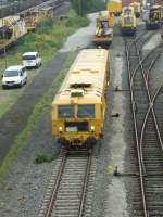 Gleisstopfmaschienen/51257/eine-gleisstopfmaschiene-der-dbg-in-duisburg-entenfang Eine Gleisstopfmaschiene der DBG in Duisburg-Entenfang