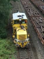 Schienenschoterpfluge/51256/ein-schienenschotterpflug-der-dbg-in-duisburg-entenfang Ein Schienenschotterpflug der DBG in Duisburg-Entenfang